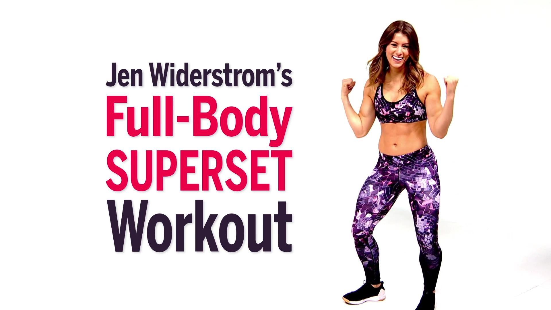 Jen Widerstrom's Superset Workout Fast-Tracks Your Toning Goals