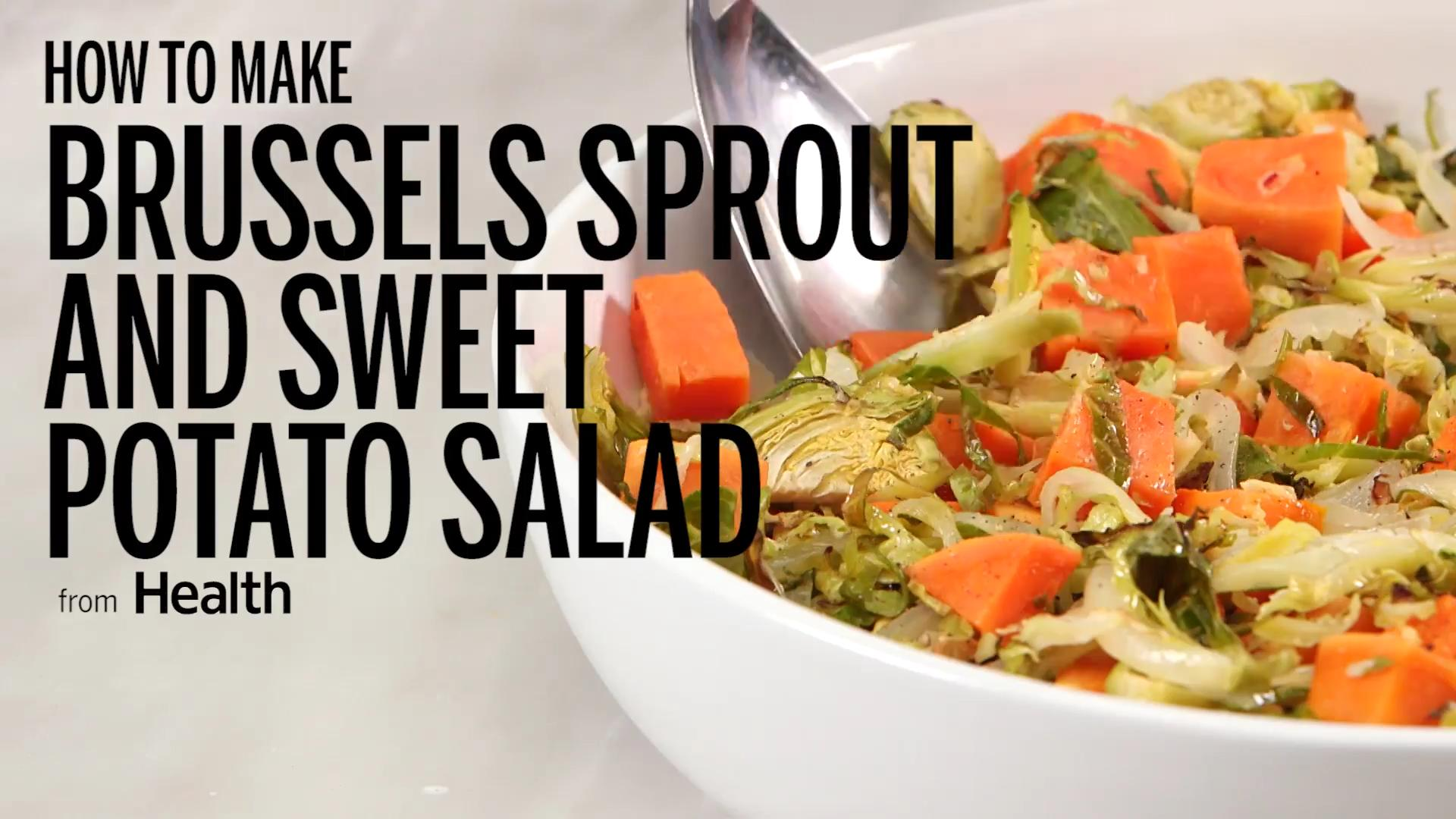 Brussels Sprout and Sweet Potato Salad Recipe - Health
