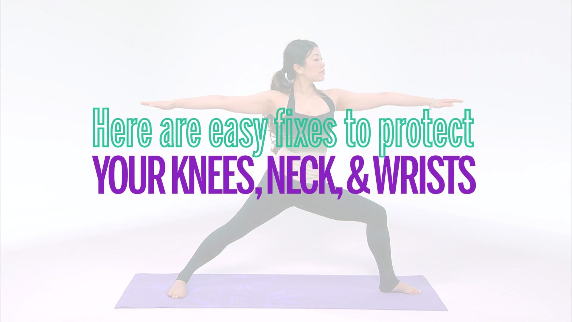 Easy Fixes to Yoga Poses to Protect Your Knees, Neck, and Wrists