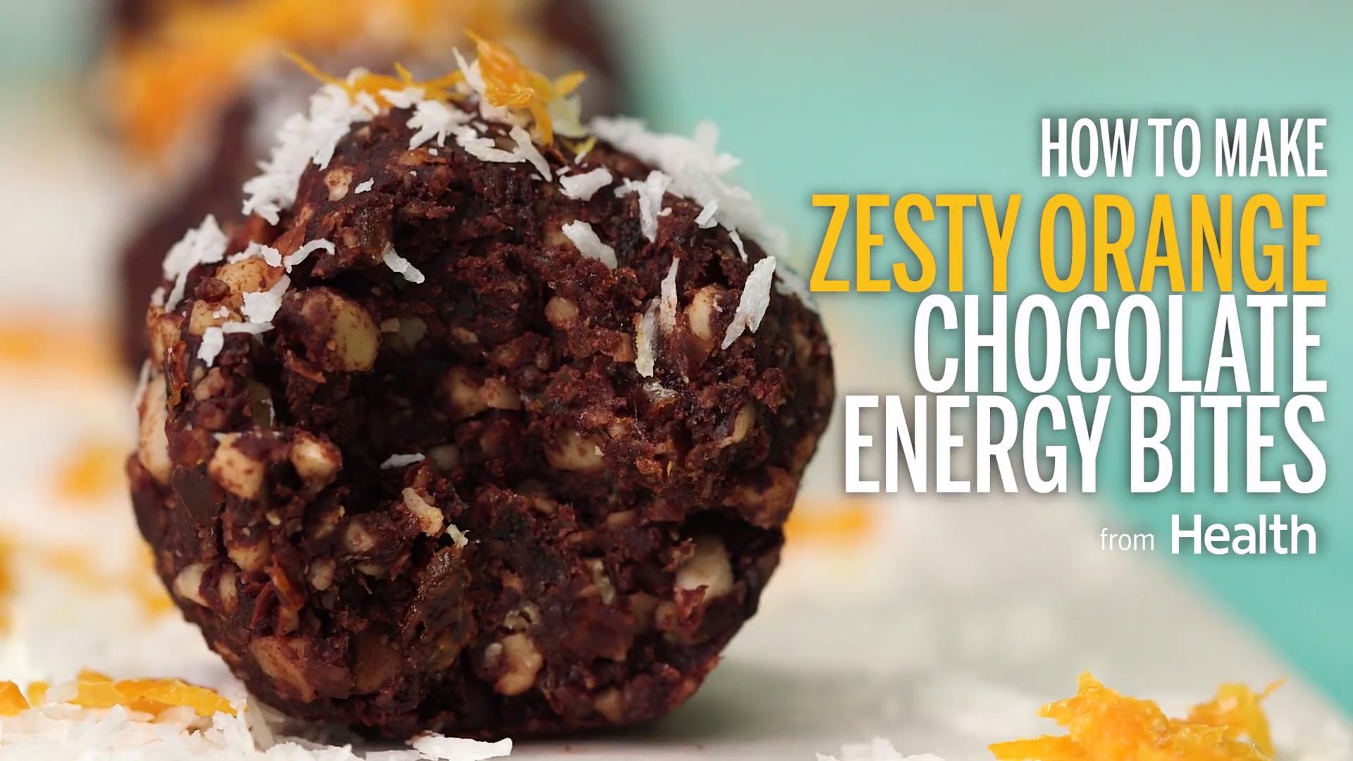 Zesty Orange Chocolate Energy Bars