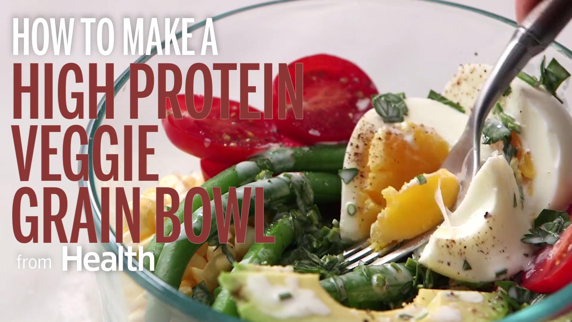 How to Make A High-Protein Veggie Grain Bowl