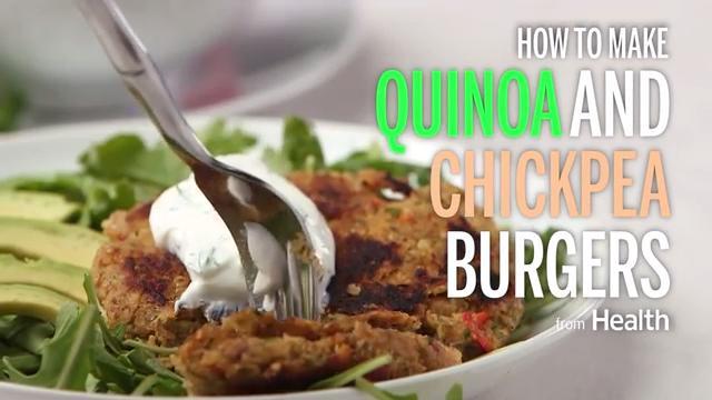 Quinoa and Chickpea Burgers Recipe - Health