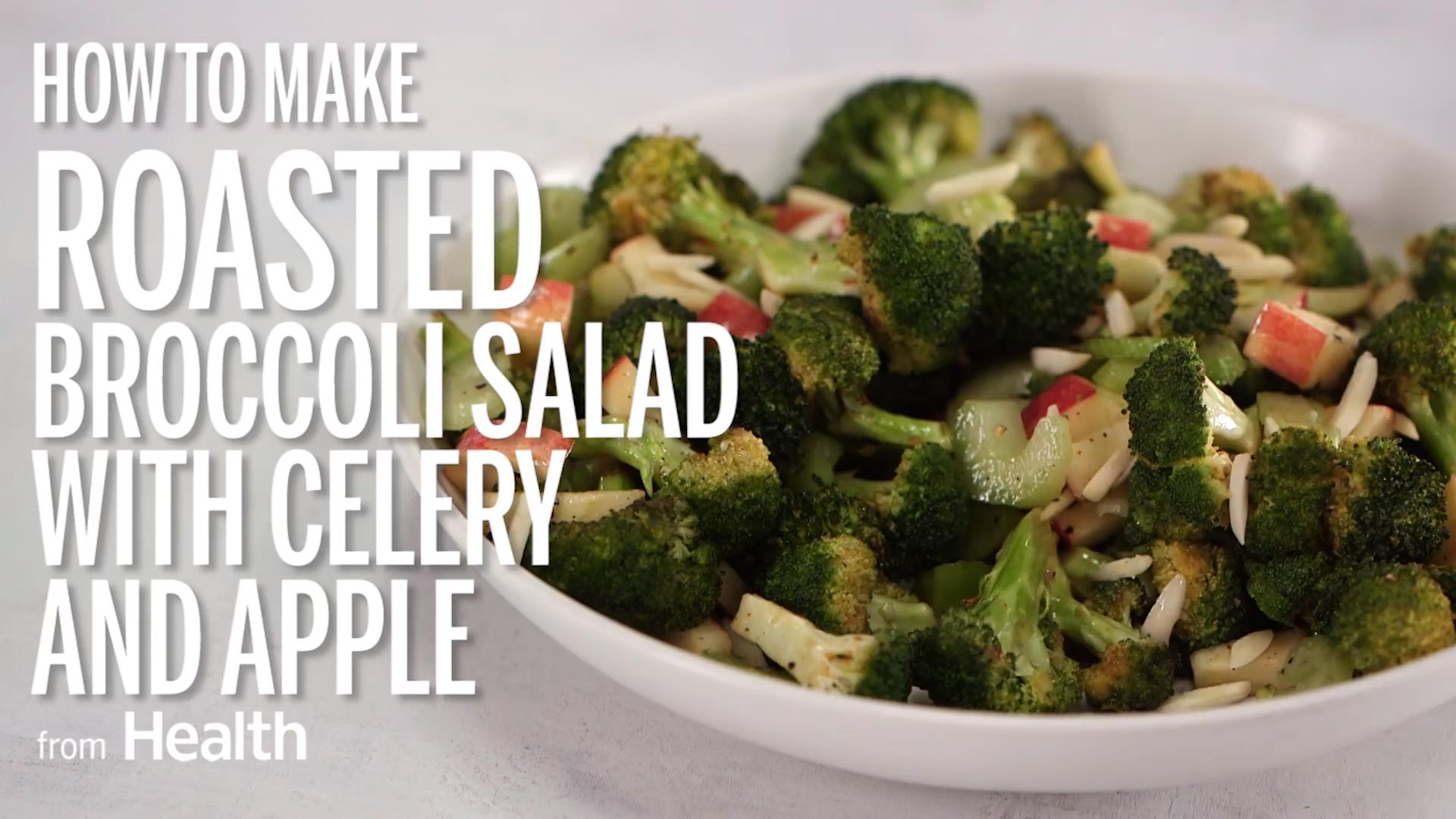 Roasted Broccoli Salad With Celery and Apple Recipe - Health