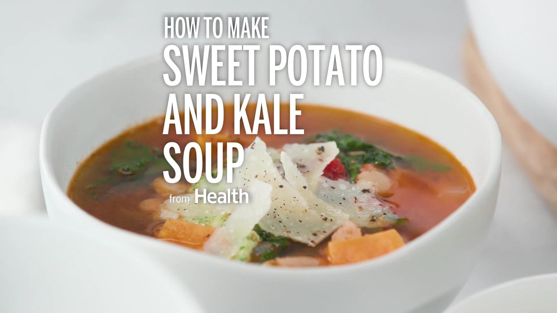 Hearty Sweet Potato-and-Kale Soup Recipe - Health