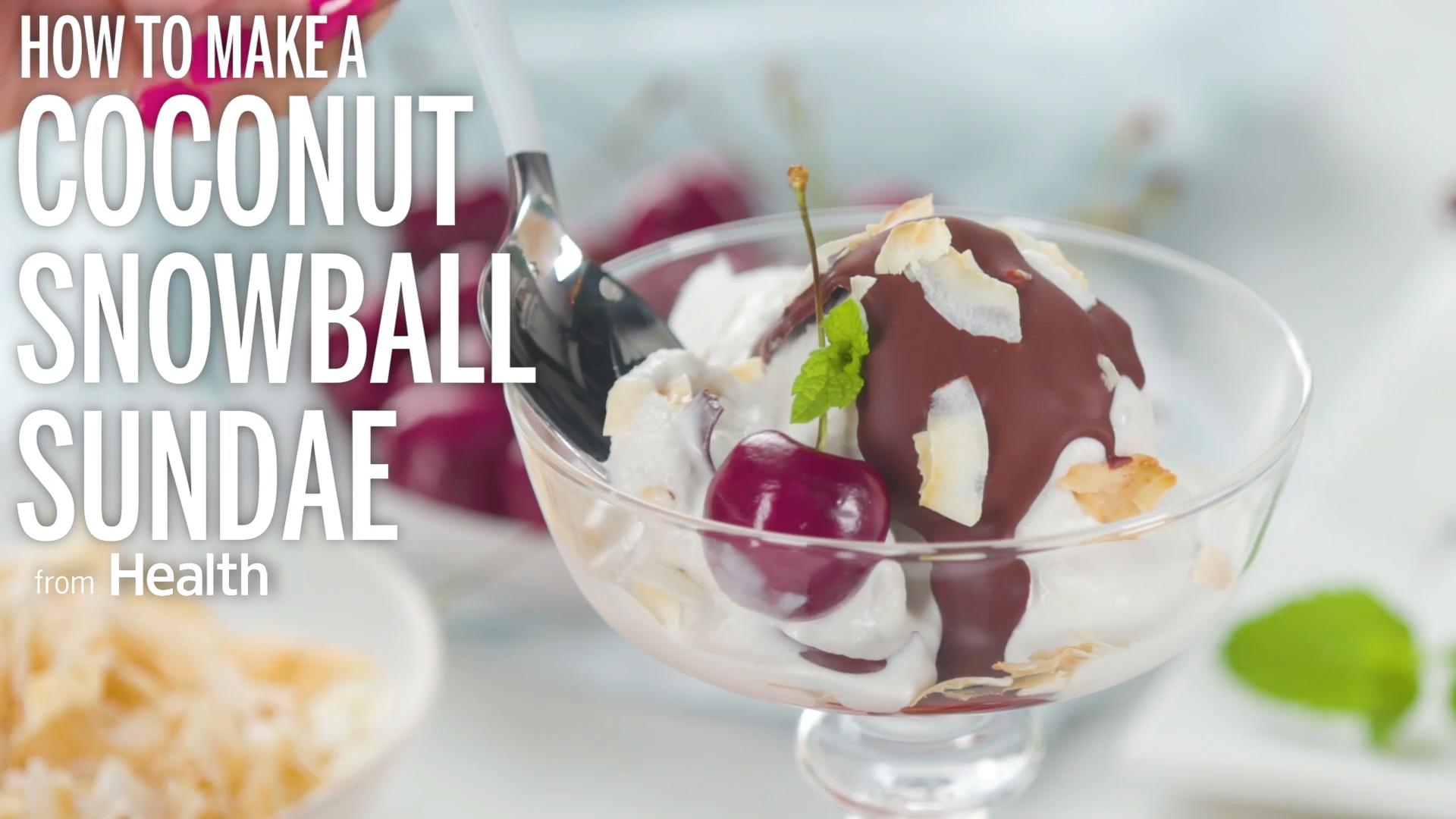 Coconut Snowball Sundae Recipe - Health