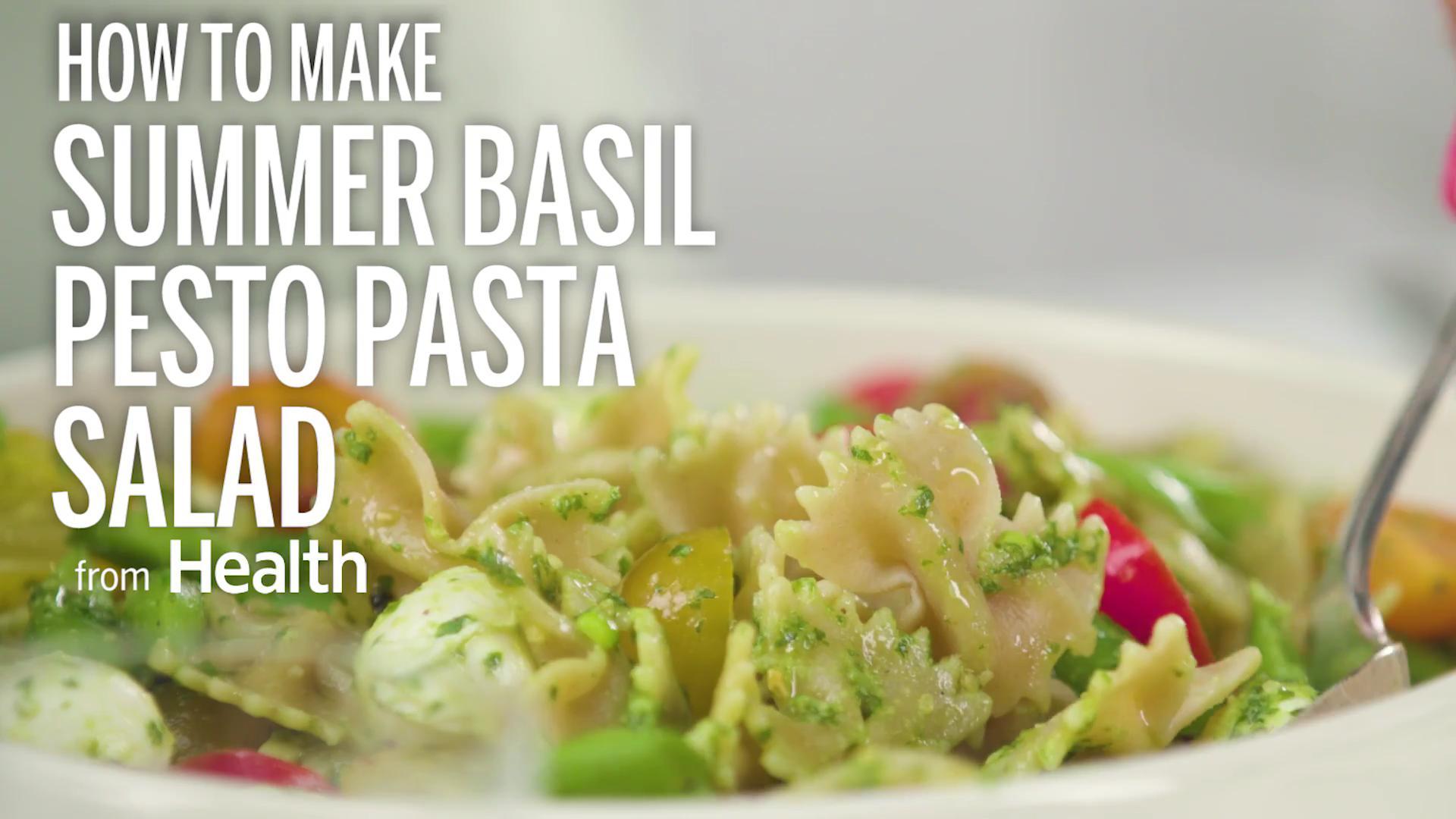 Summer Basil Pesto Pasta Salad Recipe - Health