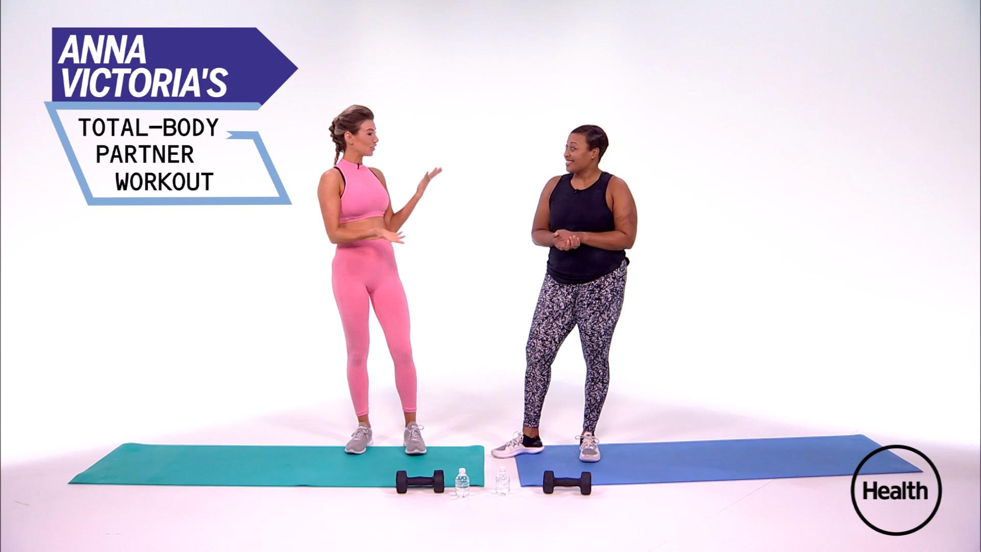 Recruit Your BFF for This Killer Total Body Workout for Partners—and Get Ready to Sweat