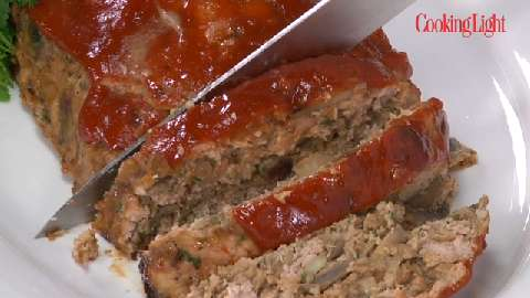 Spicy Turkey Meat Loaf with Ketchup Topping