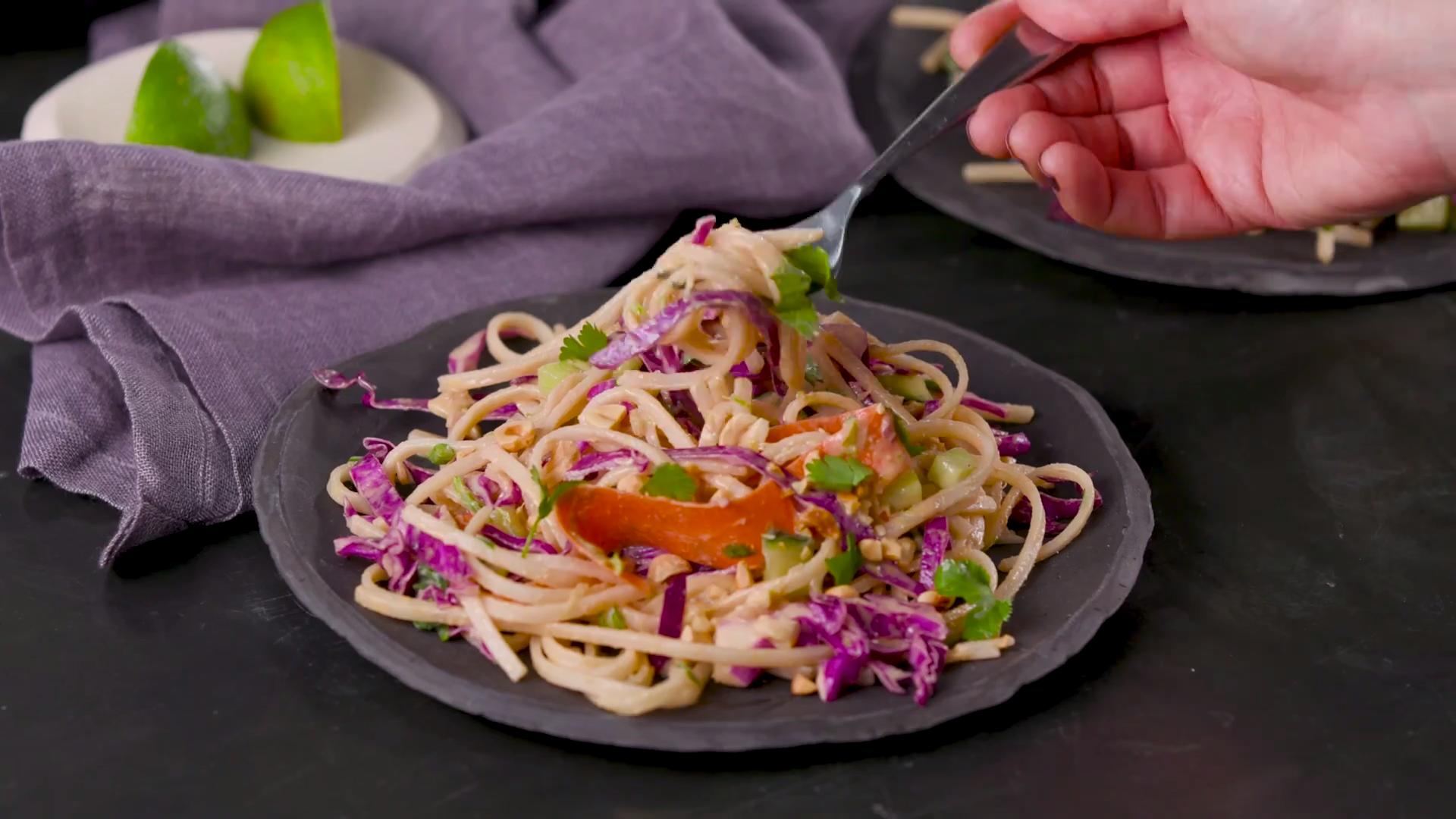 How to Make Cabbage and Rice Noodle Salad With Peanut-Lime Dressing