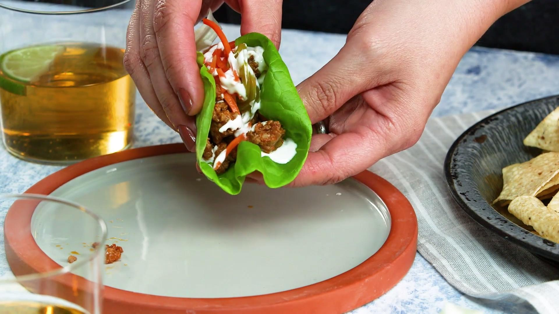 How to Make Taco Truck Lettuce Wraps