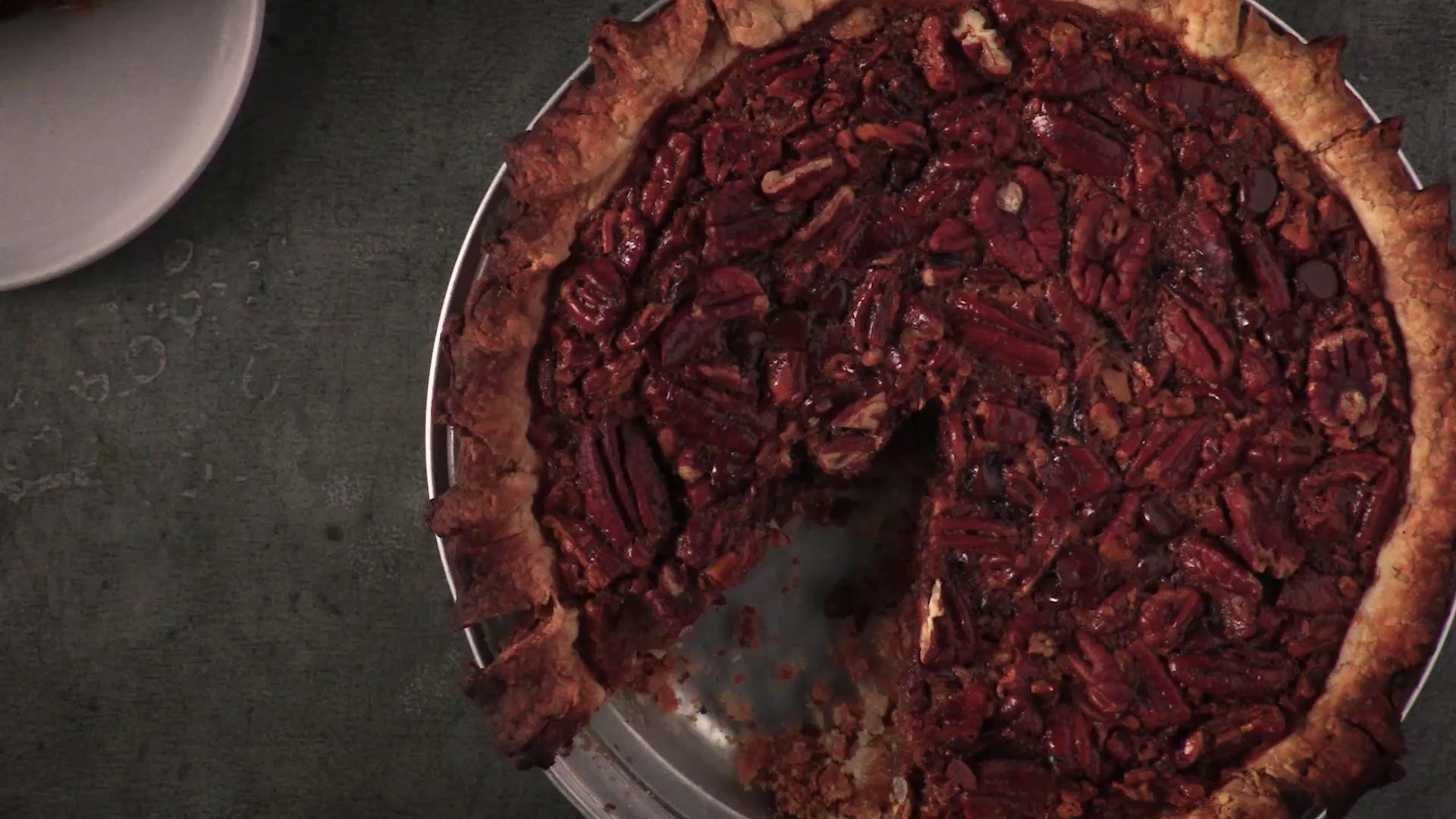 Chocolate Pecan Pie with Bourbon
