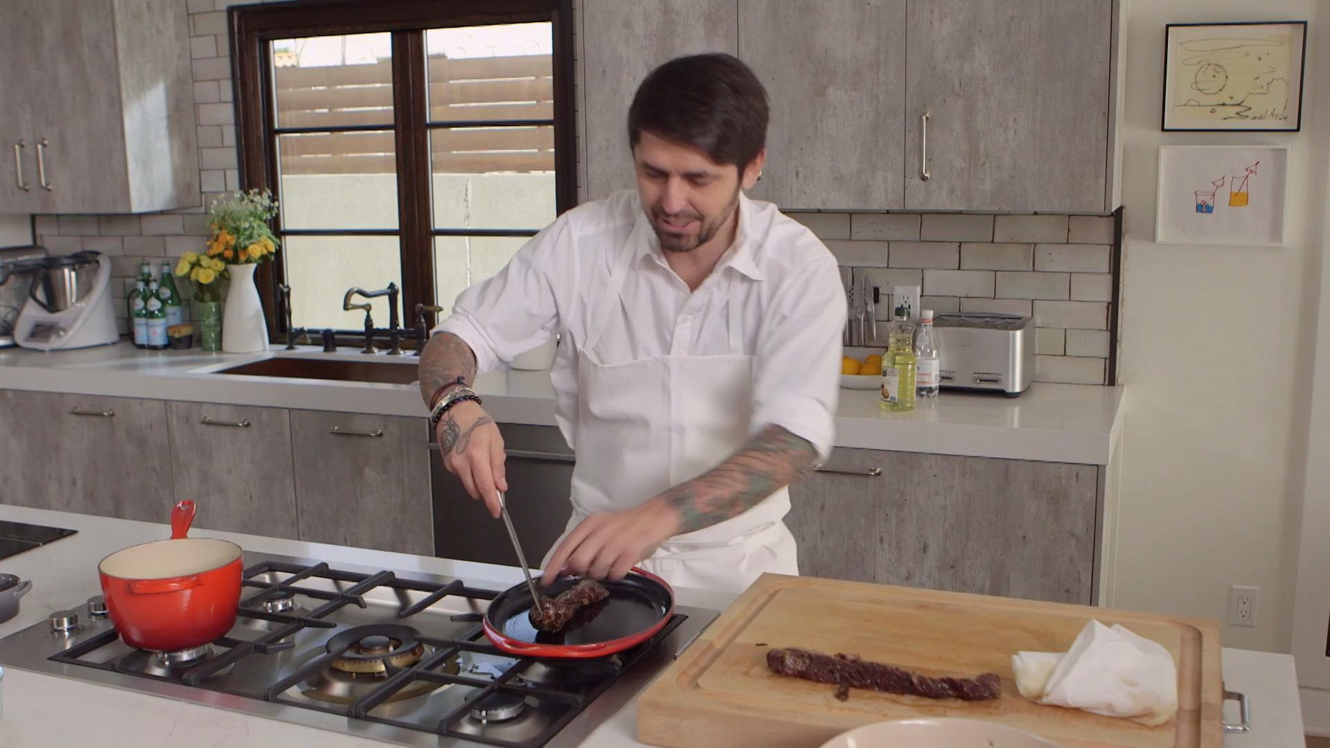 How to Make Galbi Steak with Burnt Eggplant Purée