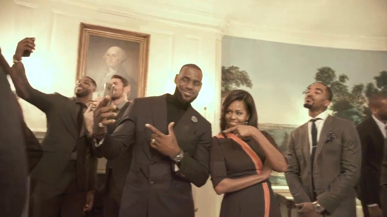 Watch: LeBron, Cavs and Michelle Obama do the Mannequin Challenge