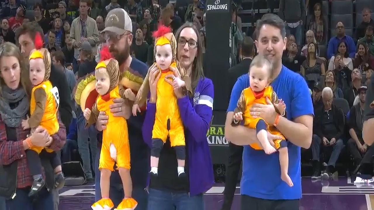 The Kings held a Thanksgiving-themed baby race and a star was born