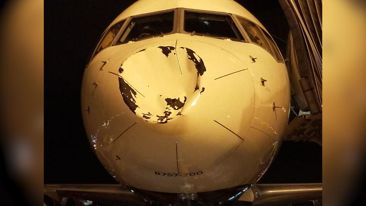 What Dented The Thunder Team Plane On Flight To Chicago?