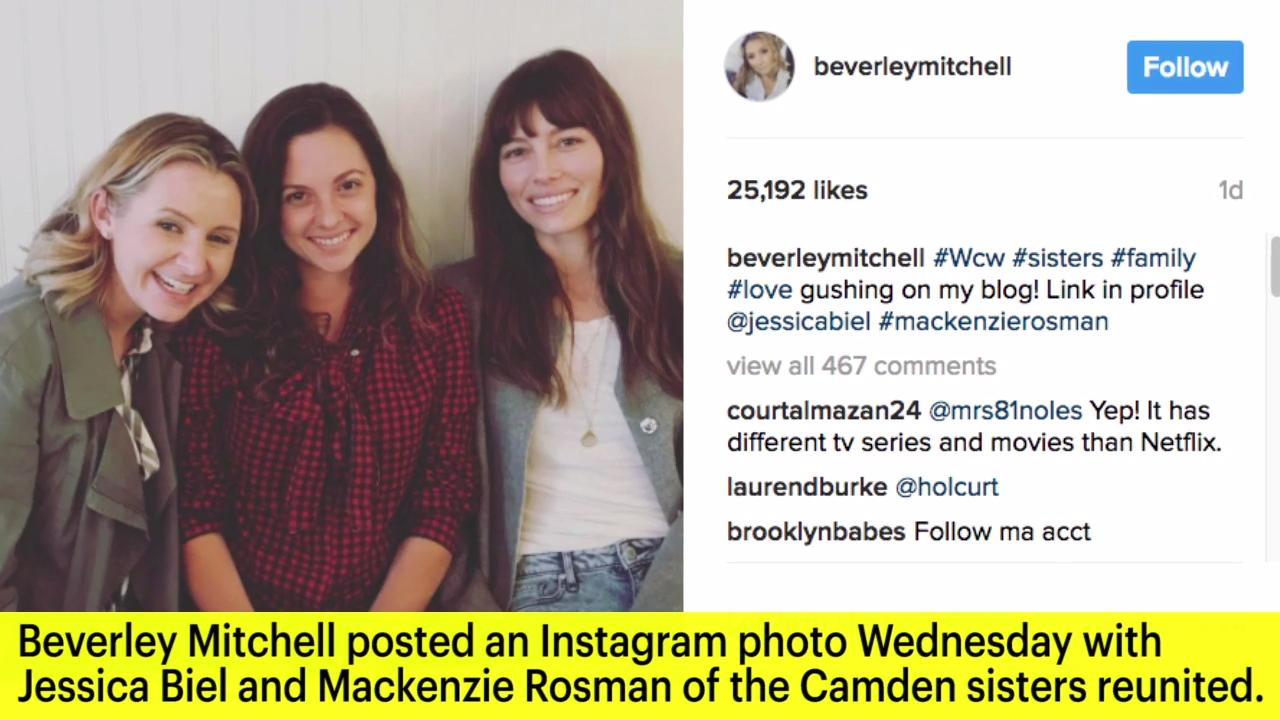 Sisters! Jessica Biel, Beverley Mitchell and Mackenzie Rosman Have Adorable 7th Heaven Reunion