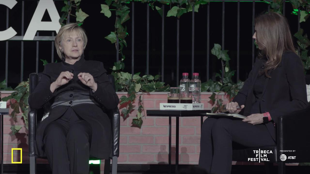 Watch Hillary Clinton Make Surprise Appearance at Tribeca Film Festival