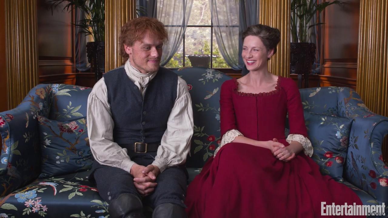 Outlander stars Sam Heughan, Caitriona Balfe on season 4 and sex scenes at SCAD Savannah Film Festival