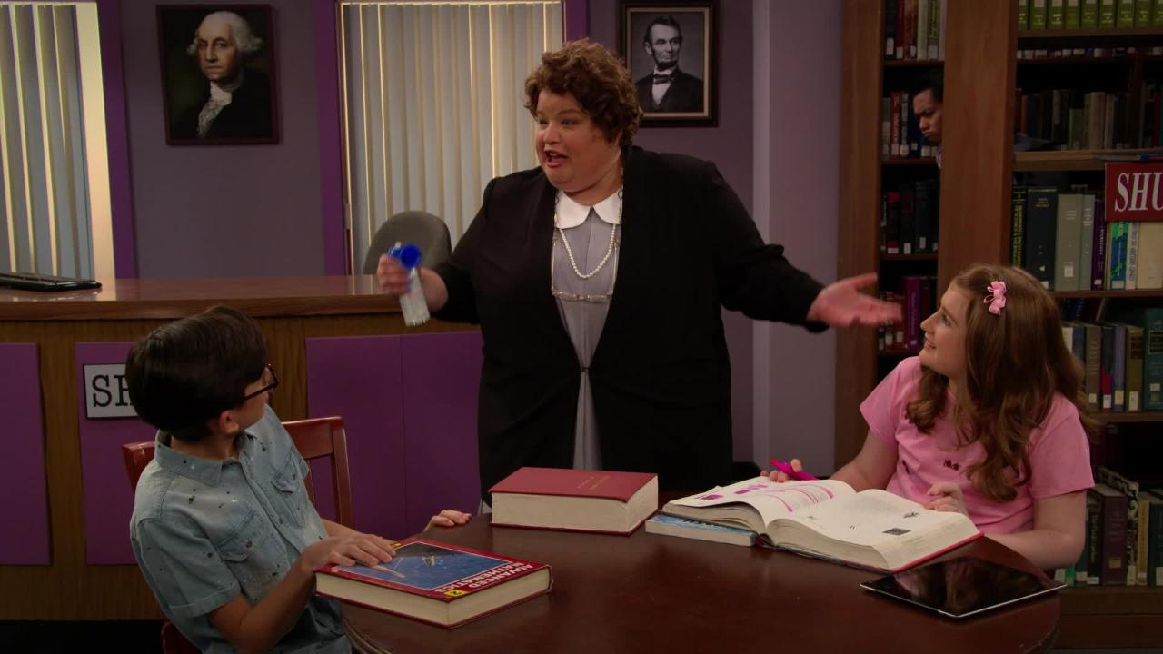 Hush! Watch Lori Beth Denberg back on All That as Loud Librarian