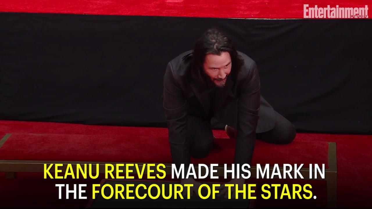 Whoa! Keanu Reeves immortalized with handprint ceremony, joined by John Wick cast