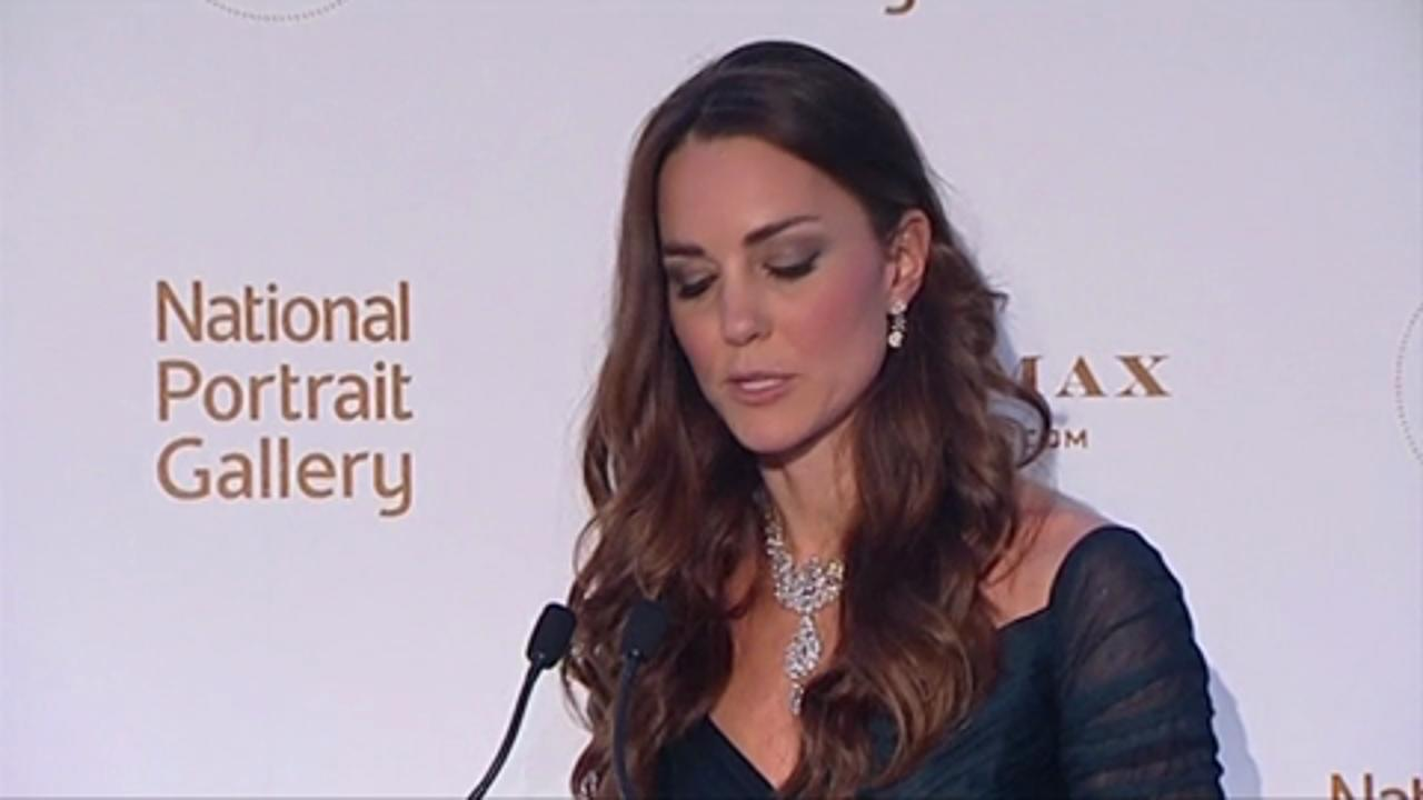 Kate Steps Out at National Portrait Gallery Gala