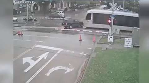 VIDEO: Shocking Footage of Texas Train Colliding with Family SUV, All Miraculously Survive