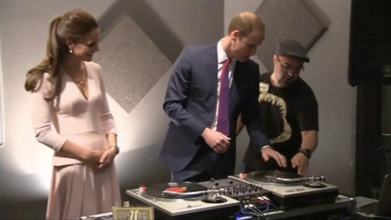 Will and Kate Try Their Hands at Deejaying