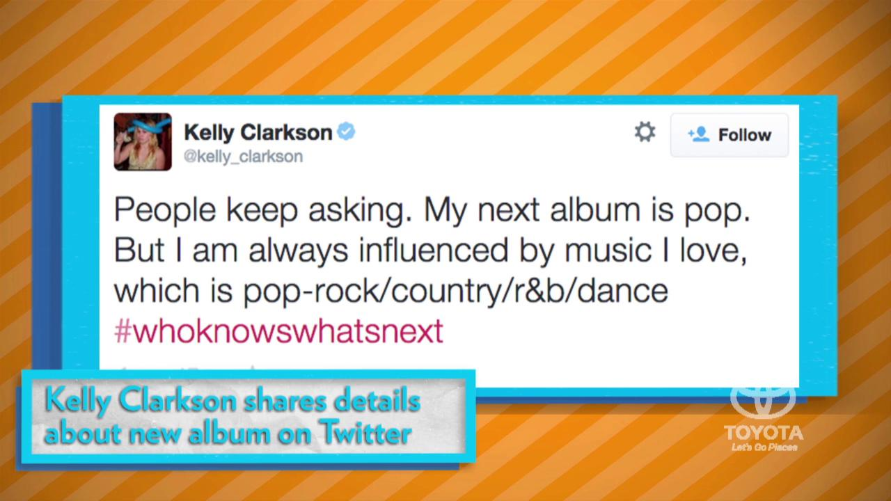 Kelly Clarkson Hints at Upcoming Album