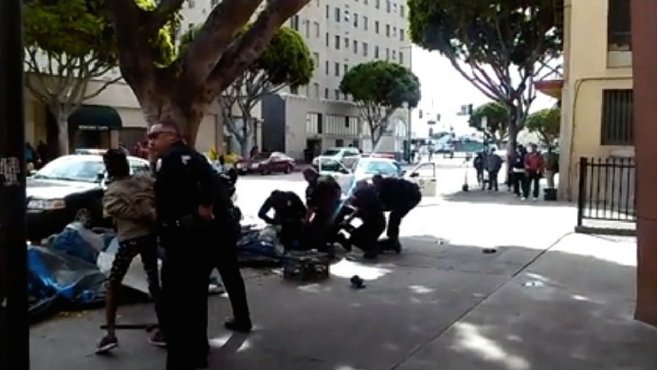 Los Angeles Police Fatally Shoot Homeless Man in Altercation Caught on Video