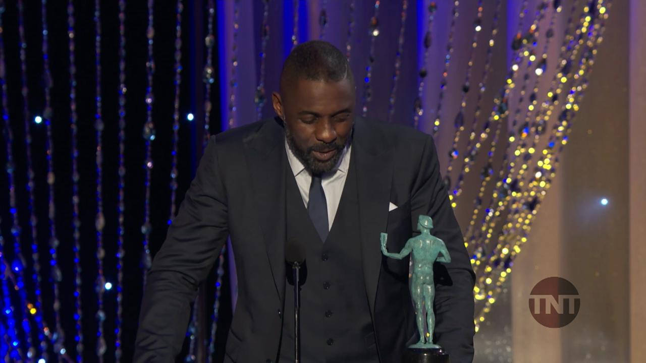 Idris Elba Is Having the Best Night Ever at the SAG Awards