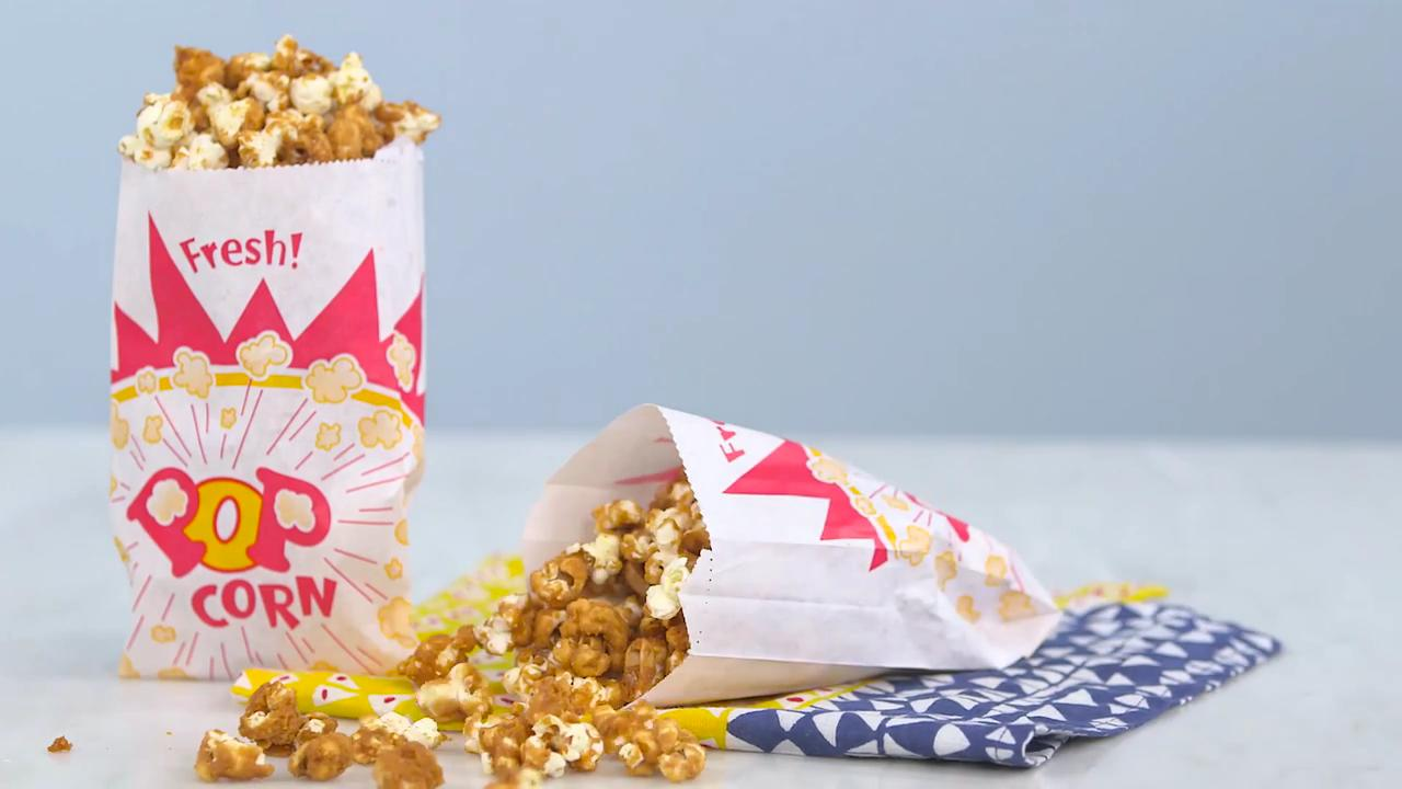 WATCH: This Salted Caramel Popcorn Recipe Wins Snack Time. Period.