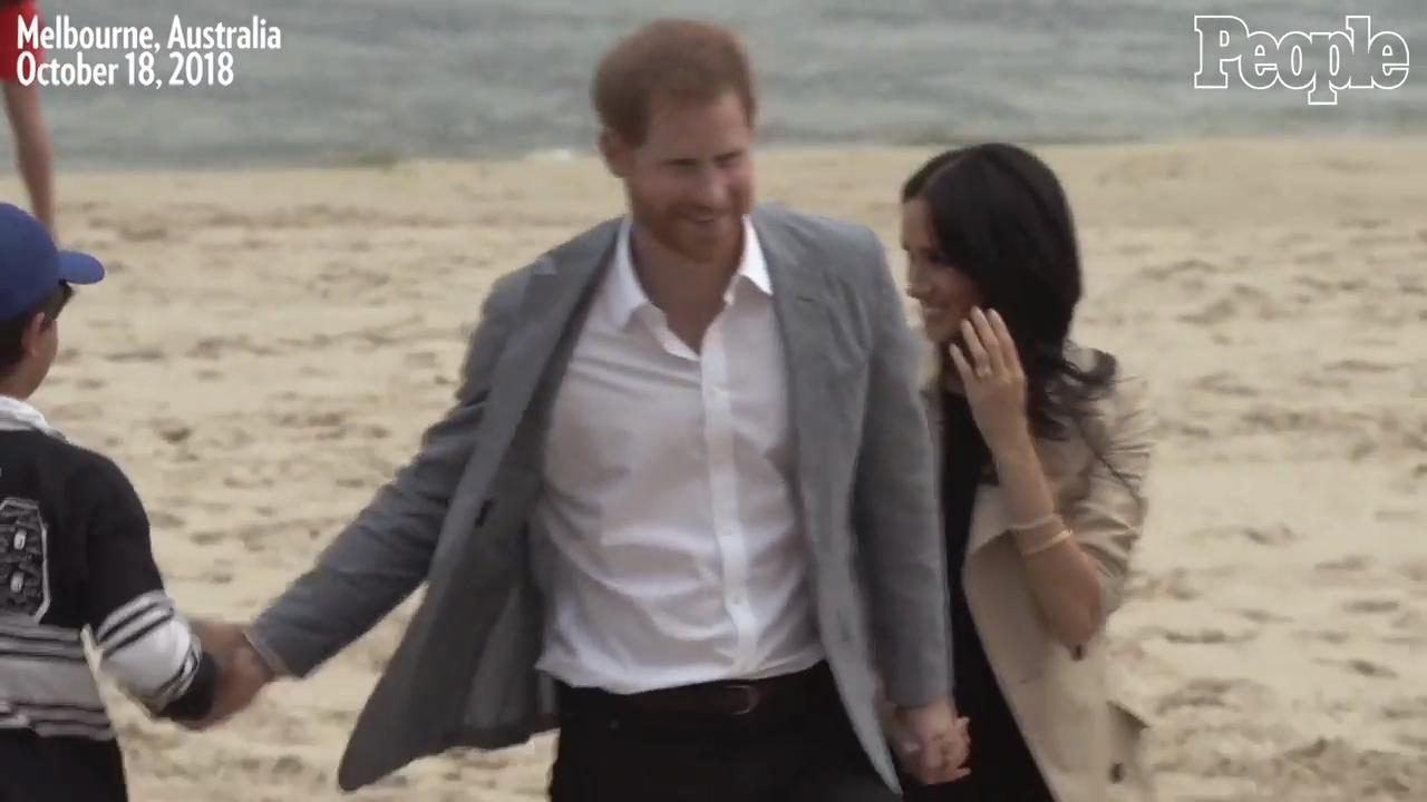 Meghan Markle and Prince Harry Make a Quick Outfit Change to Hit the Beach in Australia