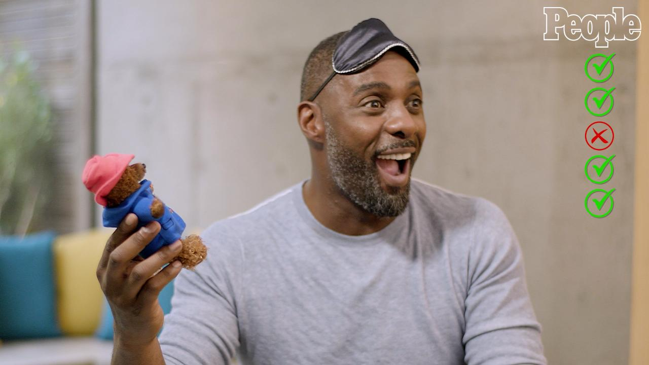 See Idris Elba, PEOPLE's Sexiest Man Alive, Try to Identify British Items Blindfolded