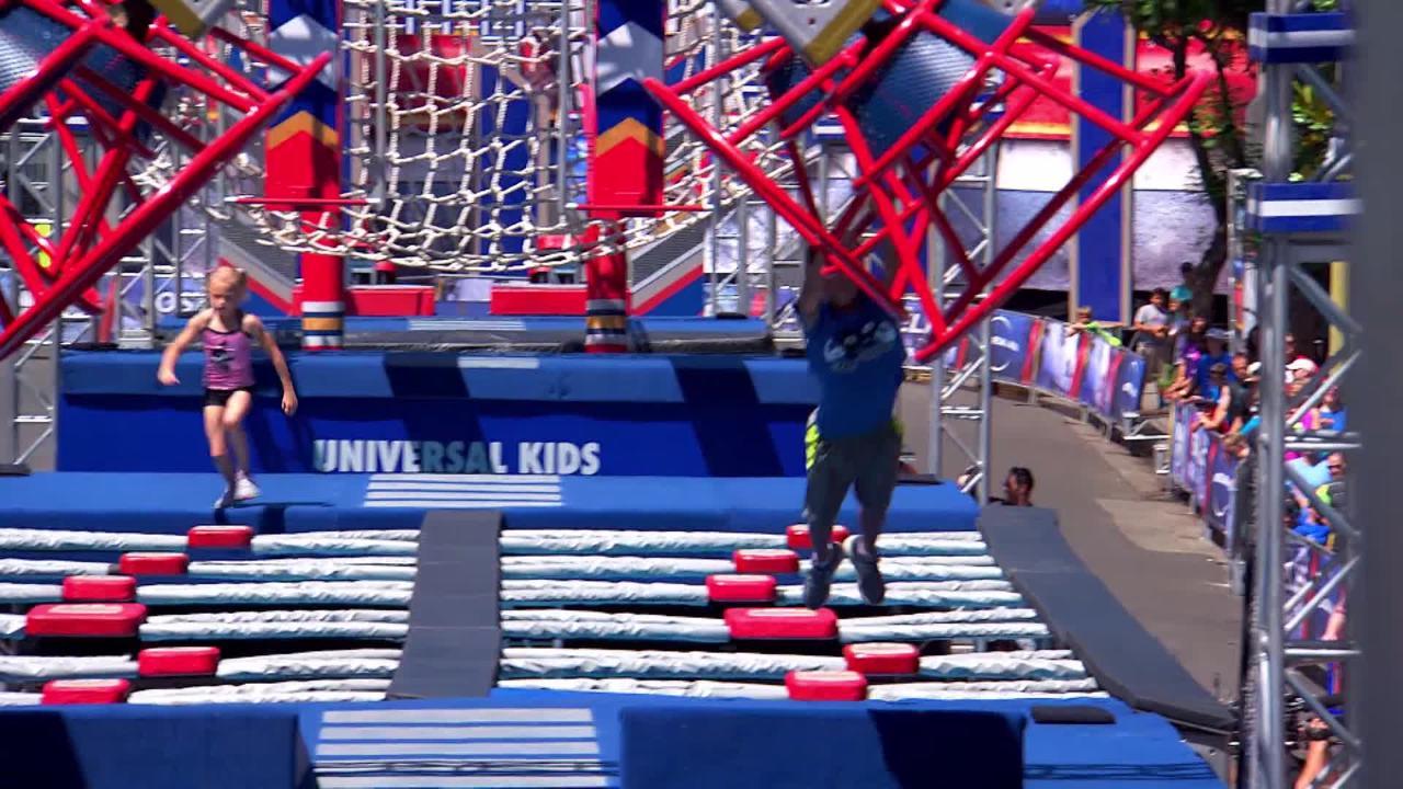American Ninja Warrior Junior Contestants, 9 and 10, Go Head-to-Head in Nail-Biting Race
