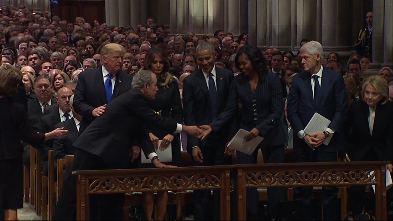 Michelle Obama Warmly Dishes on George W. Bush's Surprise for Her at His Father's Funeral