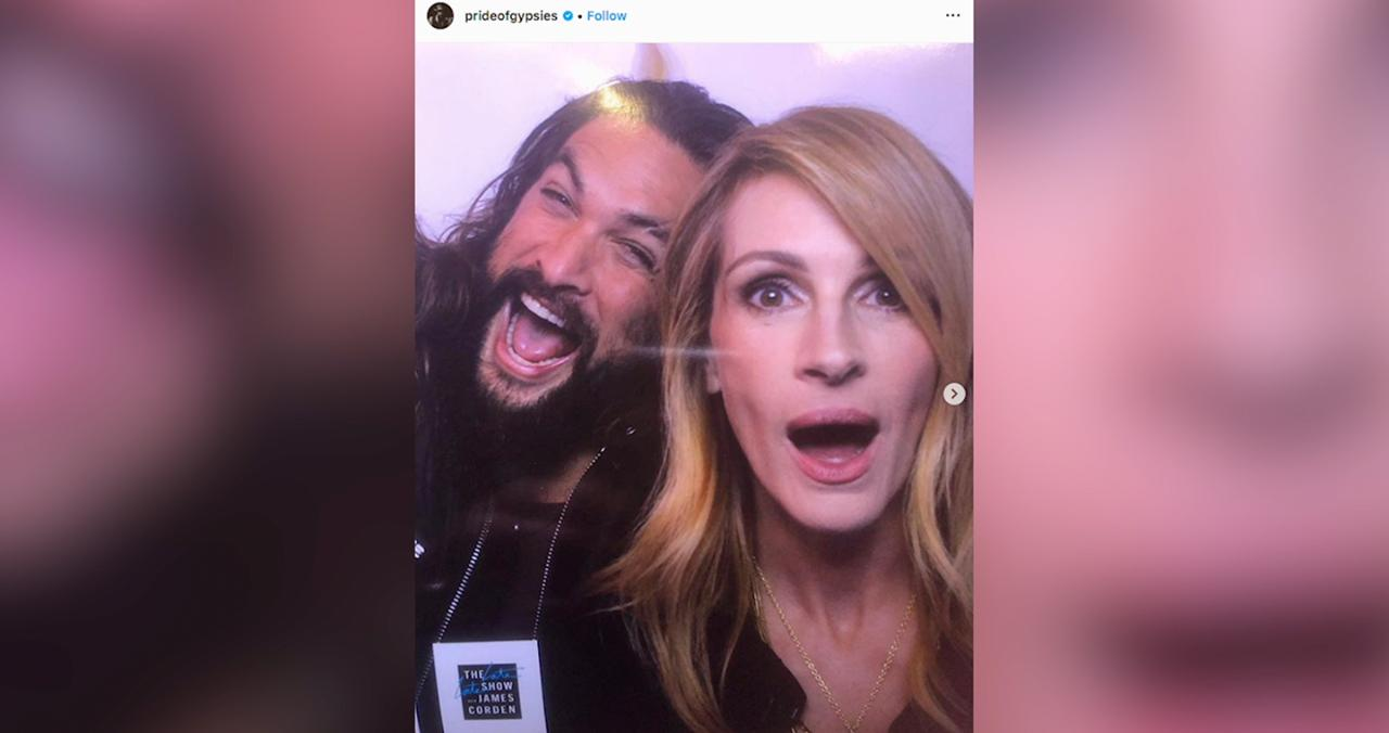 Jason Momoa Took His Mom to Meet Julia Roberts — And They Both 'Geeked Out'