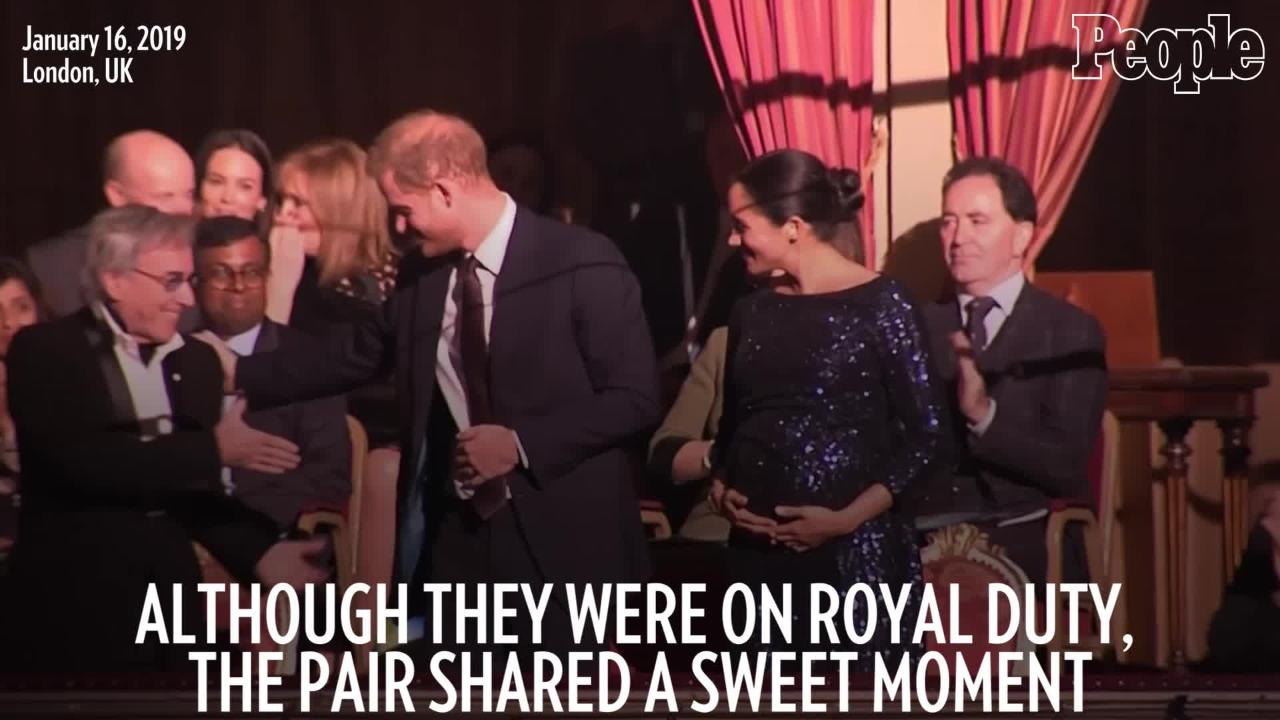 Meghan Markle and Prince Harry Snuck in Some Subtle PDA During Their Cirque du Soleil Date Night