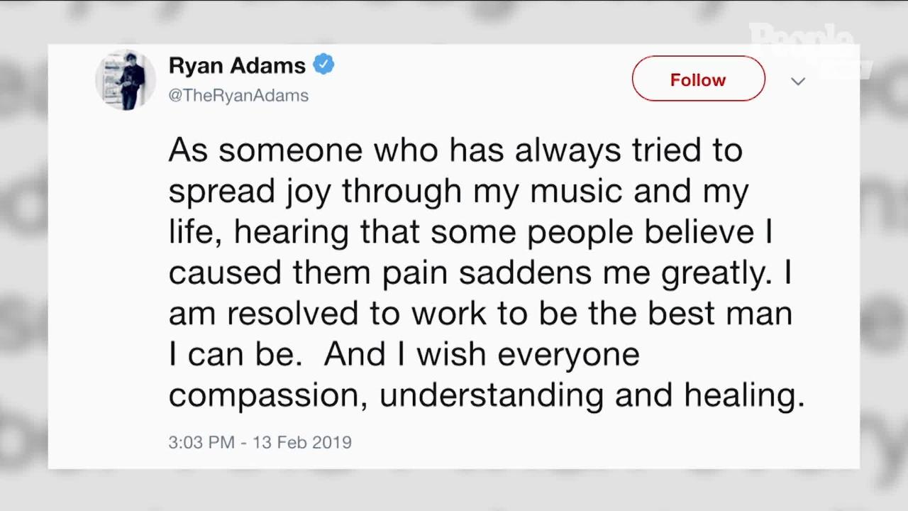 Ryan Adams Breaks His Silence Months After Abuse Allegations: 'I Have a Lot to Say'