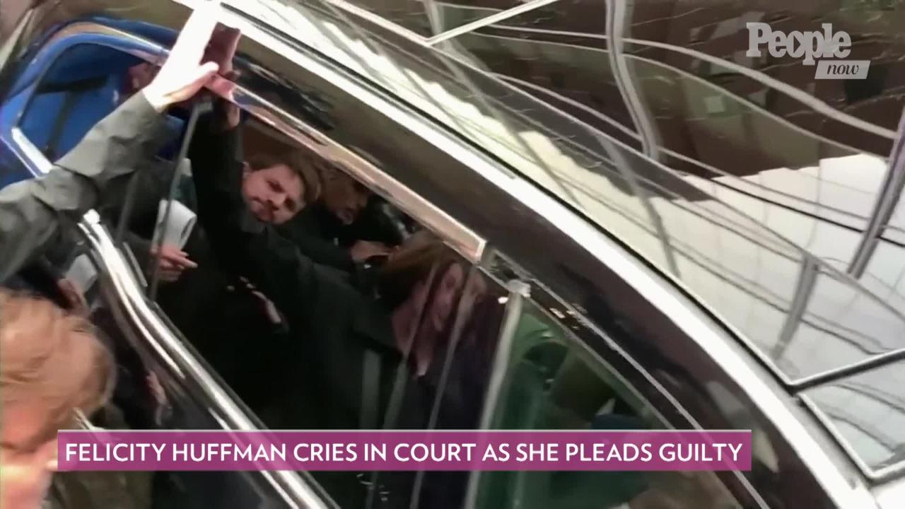 Felicity Huffman Weeps While Pleading Guilty as Prosecutors Recommend 4 Months in Prison