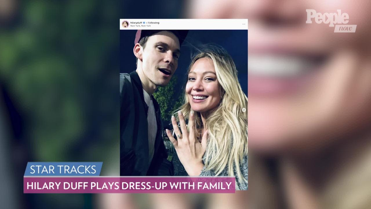 Hilary Duff Shares Family Photo and Matthew Koma Thinks He Looks Like Tom Selleck