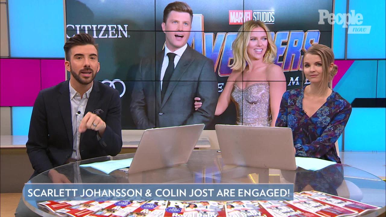 Scarlett Johansson Debuts Enormous Engagement Ring from Colin Jost at Comic-Con