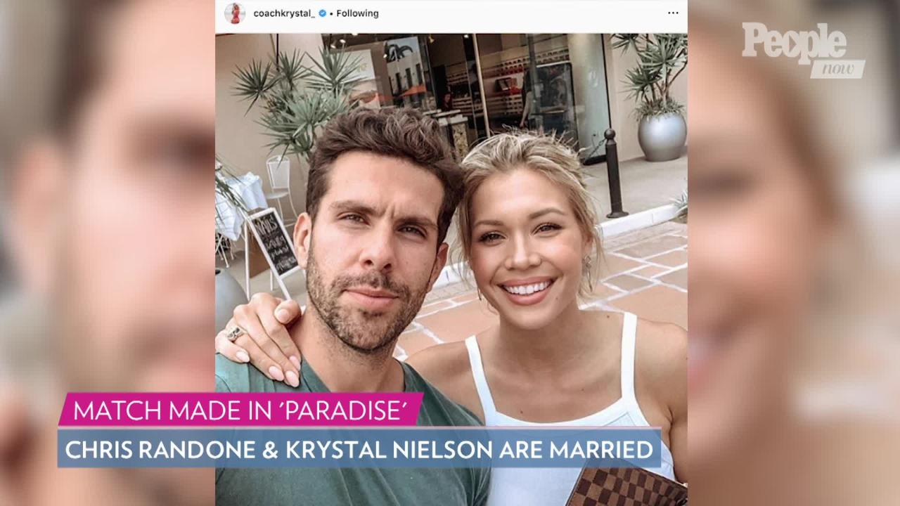 Bachelor in Paradise Stars Chris Randone and Krystal Nielson on Their 'Enchanted' Wedding