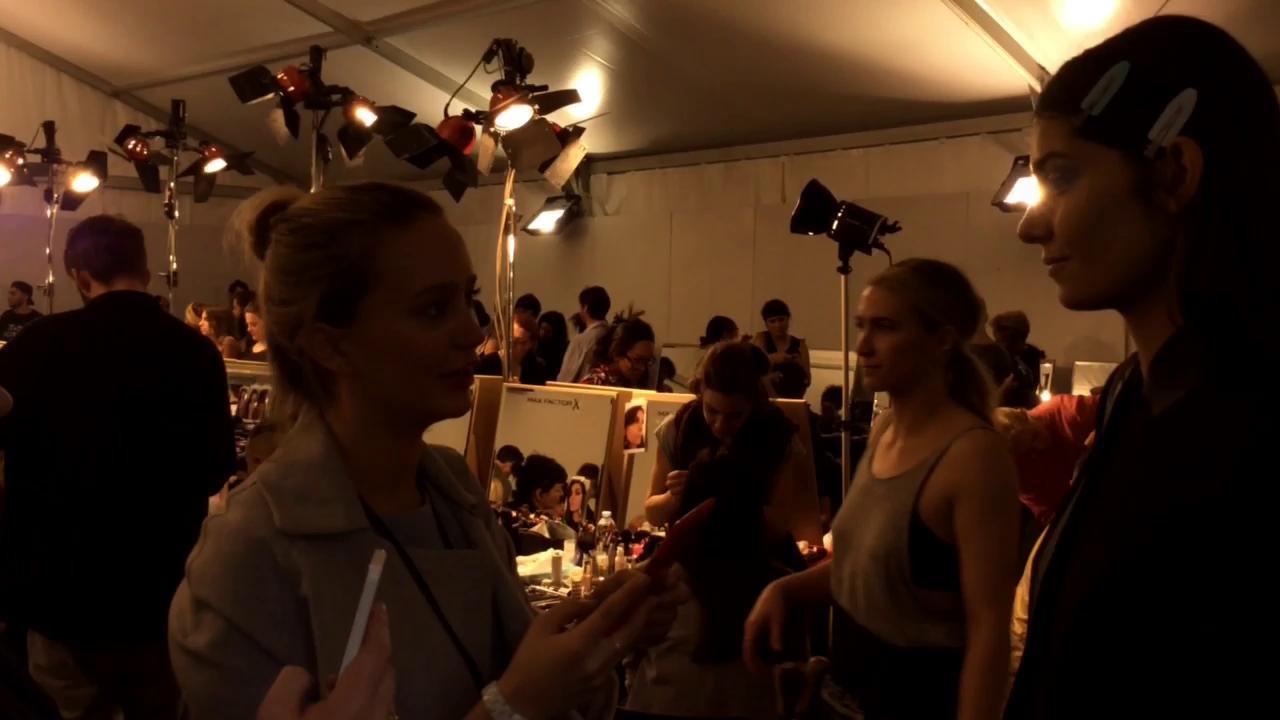Backstage at Roberto Cavalli SS15 - Milan Fashion Week