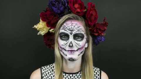 See Exactly How to Get a Day of the Dead–Inspired Sugar Skull Makeup Look