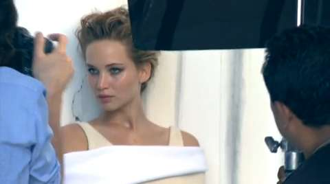 At the Cover Shoot With Jennifer Lawrence