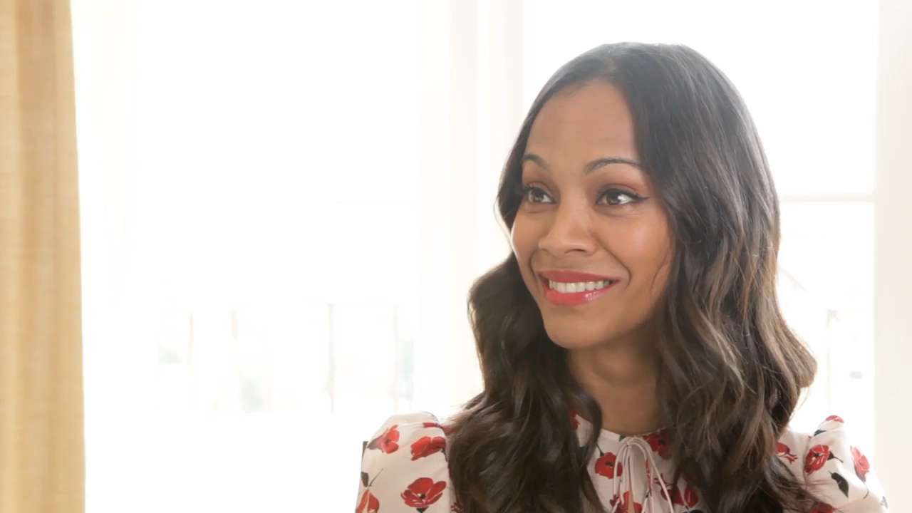 Zoë Saldana On Her Twin Boys and Being a Working Mom