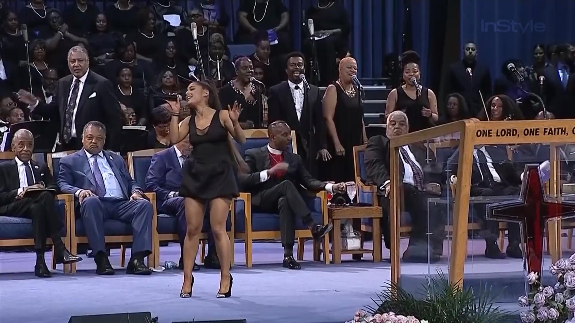 The Internet Slut-Shames Ariana Grande for Minidress at Aretha Franklin's Funeral