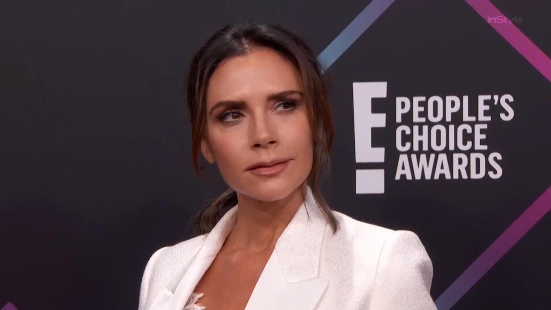 Victoria Beckham Needed an Outfit for the People's Choice Awards, So She Made It Herself