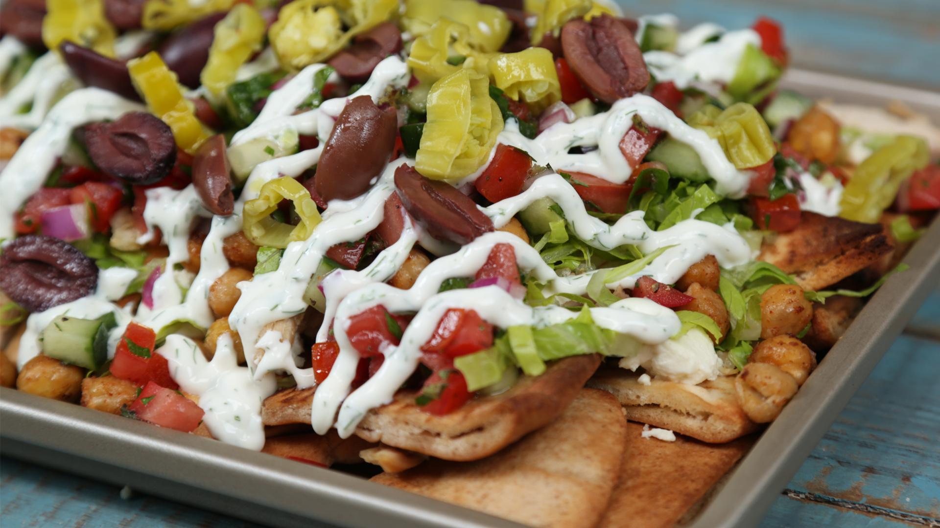 Loaded Greek Salad Nachos