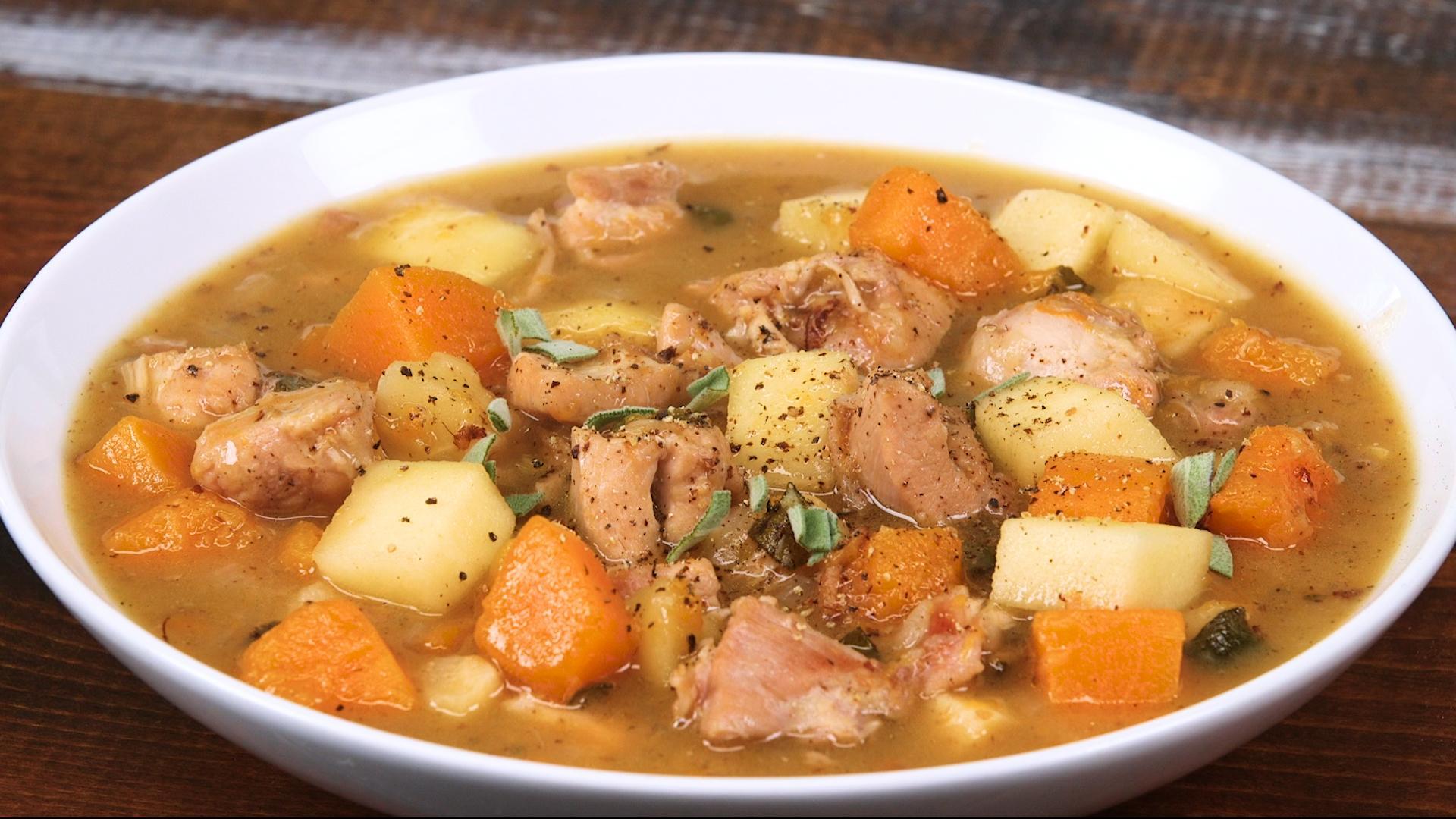 Chicken, Apple, and Butternut Stew Recipe